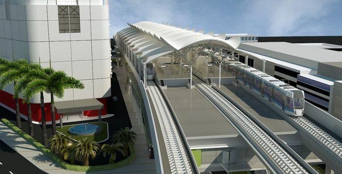 ilustrasi suasana stasiun elevated MRT (dok: MRT Jakarta)