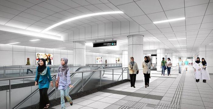 ilustrasi suasana stasiun bawah tanah MRT (dok: MRT Jakarta)