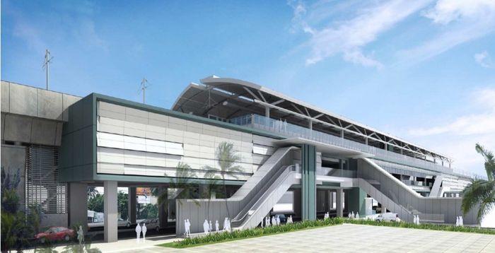 foto: ilustrasi Stasiun MRT Lebak Bulus (dok. MRT Jakarta)