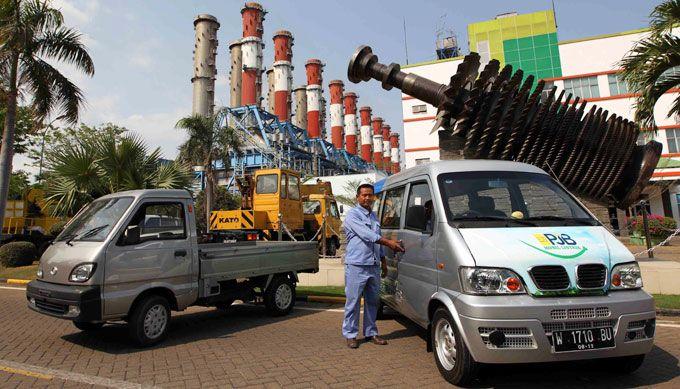 Mobil listrik milik PT Pembangkitan Jawa Bali (PJB) Unit Pembangkitan Gresik ini dioperasikan sejak Agustus 2014 silam. Agus Trimukti/Humas PLN/detikFoto.
