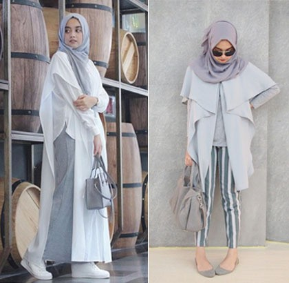 Foto Simpel Stylish Dengan Modifikasi Outerwear Ala Nabila Hatifa