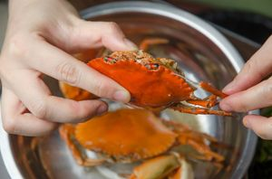 Ini Cara Asyik Makan Kepiting di Warung Tenda