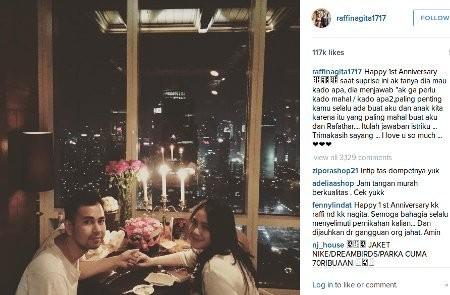 1 tahun pernikahan ini kado mahal yang diminta nagita slavina