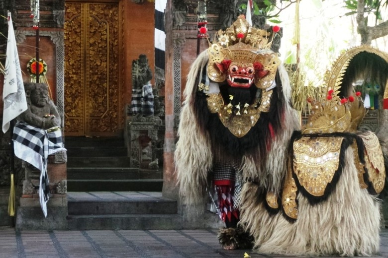 Tari Barong di Panggung Sahadewa, Batubulan, Gianyar, Bali (Wahyu/detikTravel)