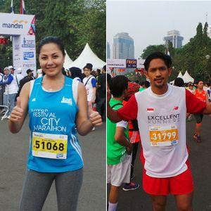 Dua Seleb Ini Sentuh Garis Finis Jakarta Marathon