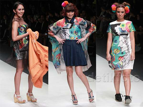 Ketika Kartika Putri, Chika Jessica dan Ayushita Jadi Model Catwalk