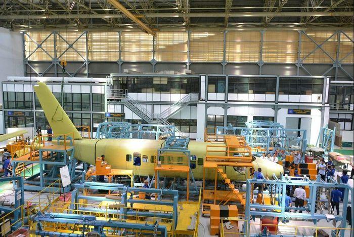foto: proses perakitan N219 di assembly line PTDI