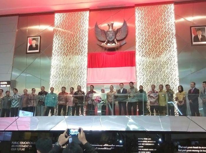 Perayaan 20 Tahun Telkom IPO di Bursa Efek Indonesia (Lani-detikFinance)