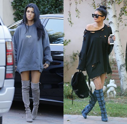 Padu Padan Stylish Sweater Oversized Terinspirasi Kendall Dan Kylie