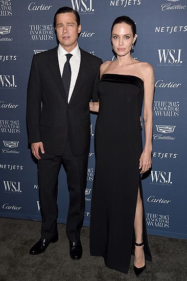 Brad Pitt dan Angelina Jolie serasi serba hitam di acara WSJ. Magazine 2015 Innovator Awards di New York, Rabu (4/11/2015) waktu setempat. Dimitrios Kambouris/Getty Images for WSJ. Magazine 2015 Innovator/detikFoto.