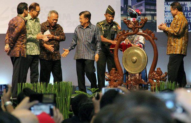 JK membuka Pameran Konstruksi Indonesia.