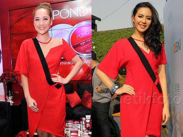 Siapa Lebih Wow dengan Dress Merah Ini, BCL atau Elvira Devinamira?