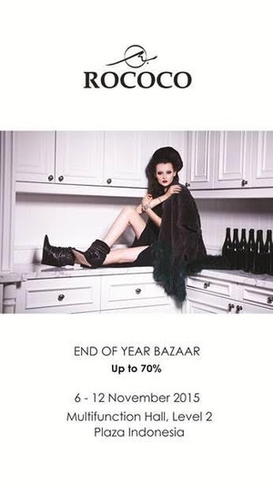 Rococo End of Year Bazaar Up to 70%