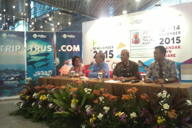 Suasana Jumpa Pers Indie Travel Mart 2015 (Wahyu/detikTravel)