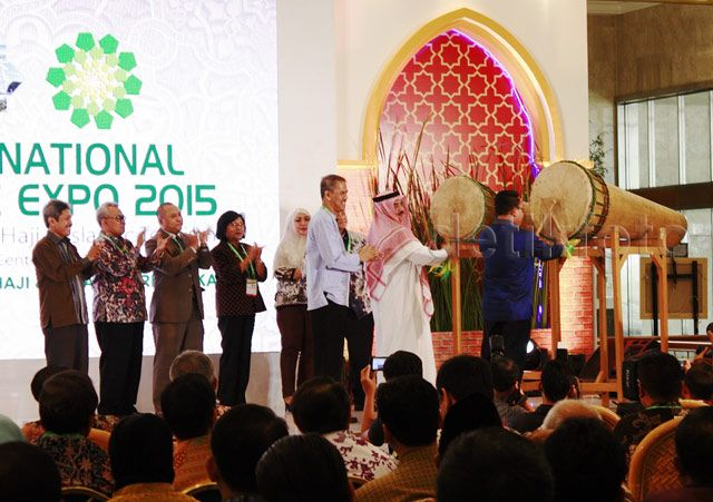 Pemukulan bedug menandai dimulainya International Islamic Expo 2015.