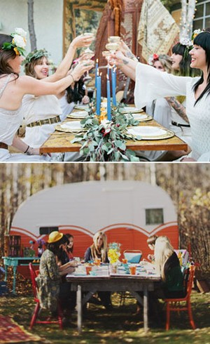 pesta ala bohemian hingga berkemah ini 6 inspirasi tema bridal shower