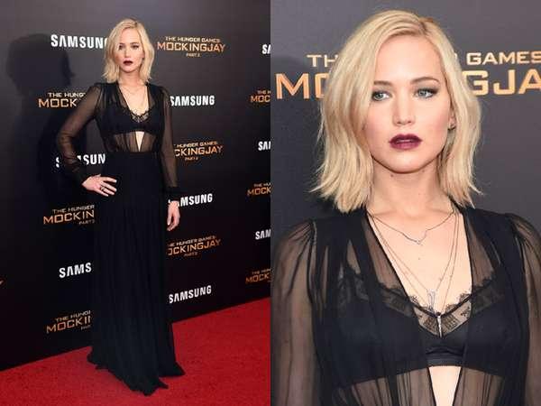 Jennifer Lawrence Seksi dengan Dress Transparan