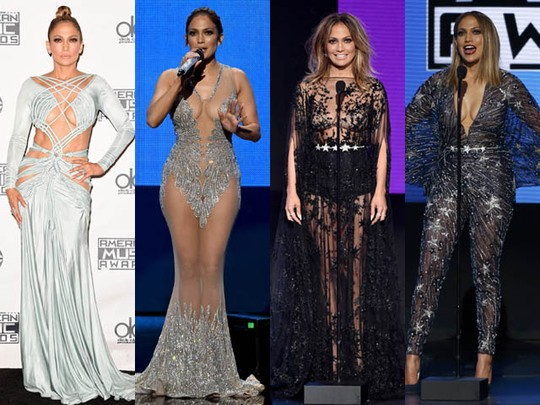 All Eyes on Her, Parade Gaya Jennifer Lopez di AMA 2015