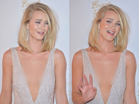 Tampil Superseksi, Rosie Huntington Whiteley Kok Malu-malu?