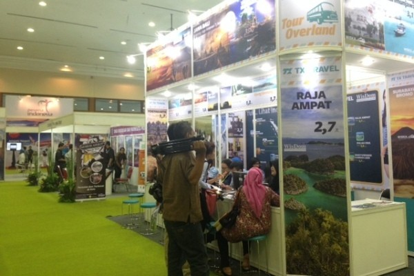 Suasana Indonesia Travel Fair di JCC ( Sastri/detikTravel)