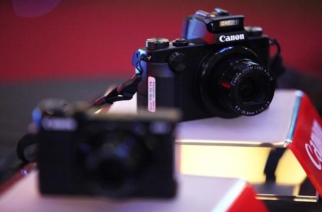 Canon G5 X dan G9 X saat diluncurkan di Bandung (ari/detikINET)