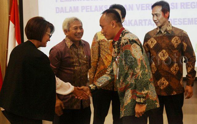 Penandatanganan kerja sama dilakukan di Gedung Kominfo, Jakarta, Jumat (18/12/2015).