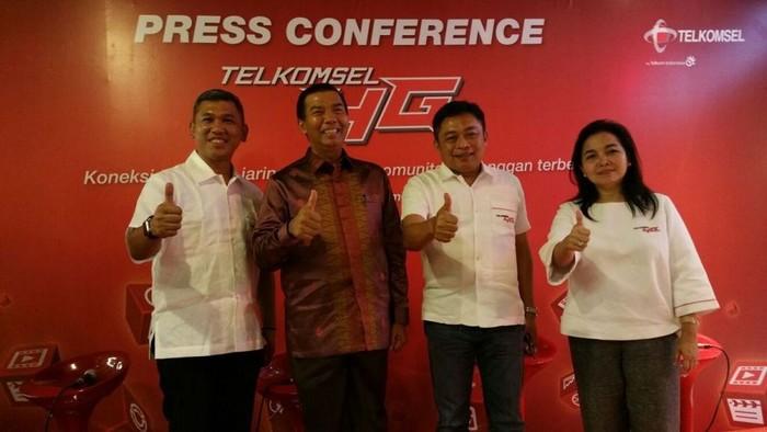 peluncuran telkomsel 4g di pekanbaru (rou/detikINET)