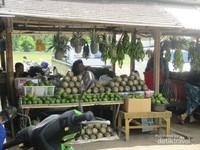 Banyak penjual nanas di pinggir jalan. Ada juga wisata petik nanas disini. Silakan mencoba memetik nanas menggunakan tangan sendiri. Hati-hati ya, banyak durinya.