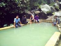 Kolam pemandian air panas untuk berendam