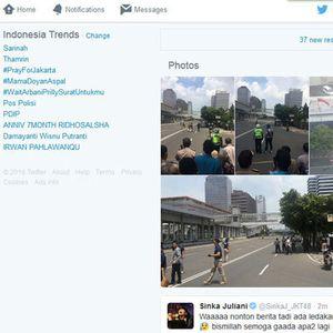 Foto-foto Ledakan Sarinah Banjiri Twitter