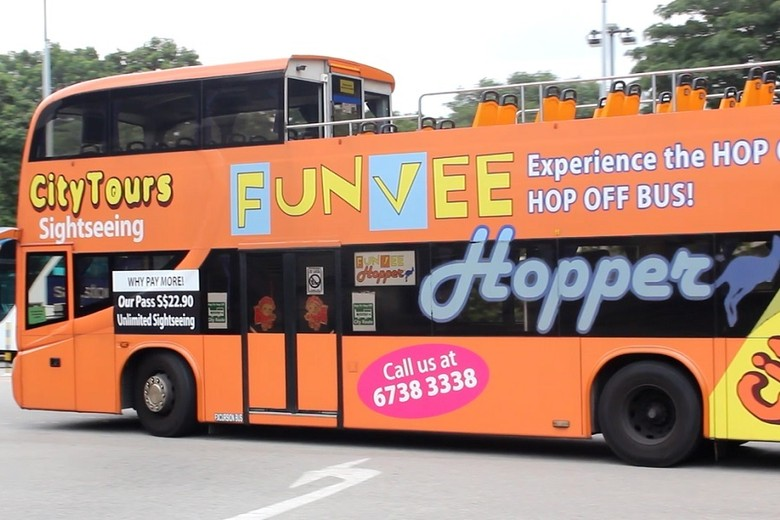 Bus Hop On-Hop Off di Singapura (Randy/detikTravel)