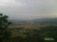 Pemandangan hijau di geopark