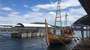 Ketika Kapal Spirit of Majapahit Tiba di Kota Toba, Jepang