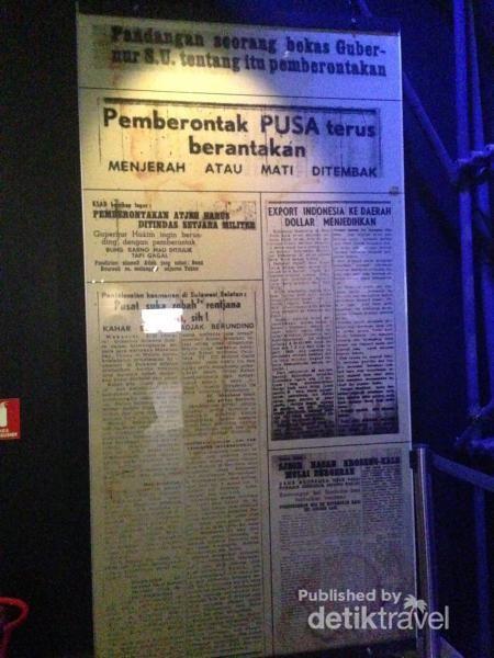 Salah satu judul koran yang di museumkan. Pemberontakan PUSA