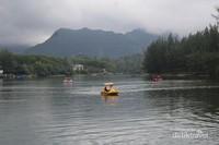 Bebek dayung di lokasi wisata