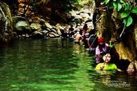 Jalur pintas yang menjadi favorit pengunjung karna sekilar mirip dengan Green Canyon Mini, tempat ini dinamakan Leuwi Cipet