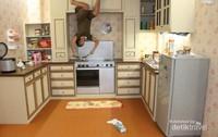 Hasil foto setelah diputar, lokasi dapur