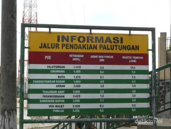 Informasi Pendakian