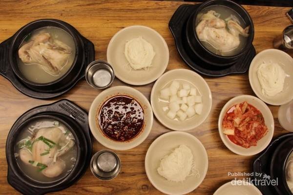 Samgyetang, sop ayam khas Korea