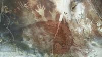 Salah satu lukisan prasejarah yang berbentuk telapak tangan