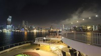 Pemandangan yang menakjubkan pun sudah menanti di luar geladak kapal