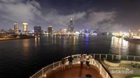 Gemerlap Kota Kaohsiung pada malam hari