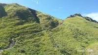 Jalur pendakian menuju puncak bukit Padar