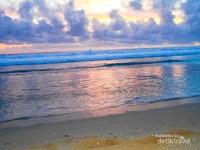 Indahnya sunset di Pantai Pok Tunggal
