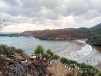 Pantai Baron dilihat dari atas