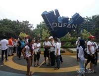Para Pesert bersiap memacu Adrenaline di Dufan