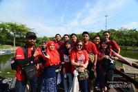 Indahnya kebersamaan para peserta di Danau Ecopark