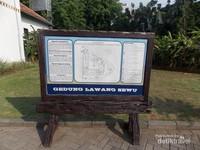 Plakat sejarah dan layout Lawang Sewu, Semarang
