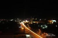 Kota Padang dari atap Hotel Grand Zuri
