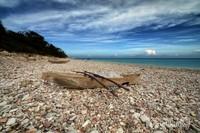 Pantai Kolbano dengan batu-batuan
